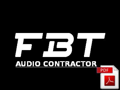 Cennik FBT Audio Contractor